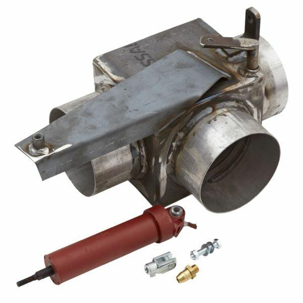 """Eksosvender - Høyre montasje luftstyrt - Til rørdiameter 5"""" / 127 mm. 1"""