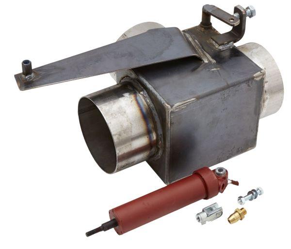 """Eksosvender - Venstre montasje luftstyrt - Til rørdiameter 5"""" / 127 mm. 3"""