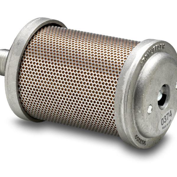 """Damper Muffler - 1 1/2"""" (38,1 mm.) BSPT hanngjenger - Diameter: 13,3 cm. - Lengde: 34,4 cm. - Type: D15 1"""