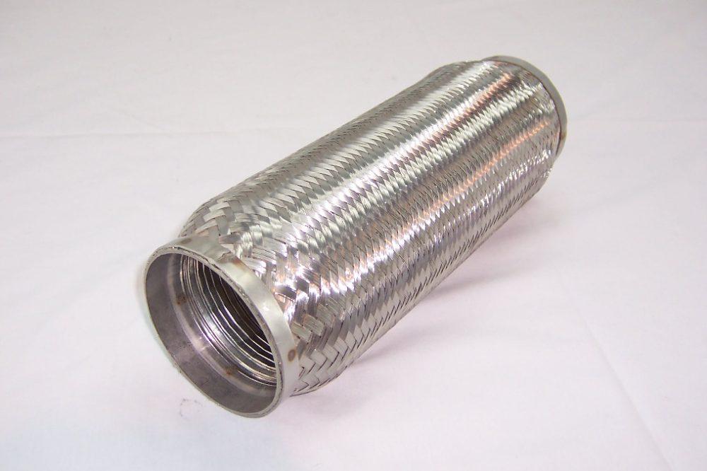 """Turbo rustfri kompensator med glatt innerløp. Innv.diam. Tommer: 4"""". Total lengde: Tommer: 14"""" 1"""