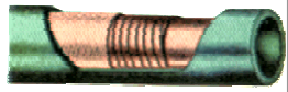 Bøybar kjølevannsslange silikon - Innv. diam: 13 mm./Utv.diam. 23 mm. - 91 cm lengde 1