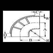 2'' (50,8 mm.) innv. diam. - 90 grader gummibend våt eksos 1