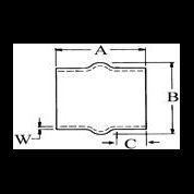 3'' - 3,5'' (76,2 - 88,9 mm.) innv. diam. - blå silikon overgang våt eksos 1