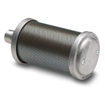 "Filter Silencer - 1 1/4"" (31,7 mm.) BSPT hann gjenger - Diameter: 9,9 cm. - Lengde: 22,2 cm. - Type: F12 13"