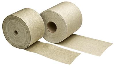 Eksosbandasje - 15,2 cm bredde - 1,5 mm. tykkelse - 30,5 m.lengde - beige farge 19