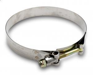 """T-bolt klemmer for gummi 4"""" 101,6mm innv.diam 4 1/2"""" reell str. 9"""
