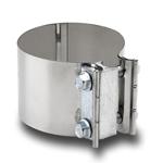 FORHÅNDSFORMET KLEMME - Til rørdiameter: 8,89 cm, Båndbredde: 7,6 cm 1