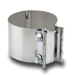 FORHÅNDSFORMET KLEMME - Til rørdiameter: 12,7 cm, Båndbredde: 7,6 cm 5