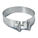 Smale flatbandklemmer til 3,5 / 88,9 mm. rørdiameter – Rustfritt stål 17