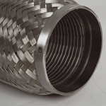"""Turbo rustfri kompensator med glatt innerløp innv.diam. Tommer: 2 ½"""" - Total lengde. Tommer: 6"""" 9"""
