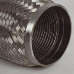 """Turbo rustfri kompensator med glatt innerløp innv.diam. Tommer: 2 ½"""" - Total lengde. Tommer: 8"""" 11"""