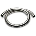 """Fleksibel stålslange - galvanisert - Innv. diam: 2 1/2"""" (63,5 mm) Lengde: 60 cm 17"""