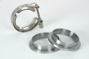"2 stk.rustfrie flenser med 1 stk. rustfri V-band klemme for 5"" (127 mm.) 13"