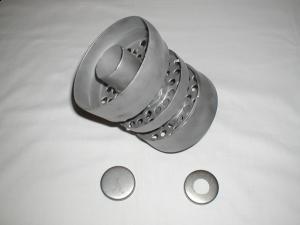 """4,5"""" 11,43 cm utv.rørdiam.  - Lengde: 17 cm - Antall disker: 3 stk. 13"""