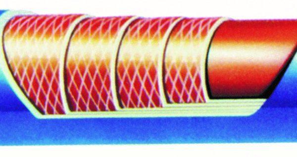 Kjølevannslange / Radiatorslange 9,65 mm.innv.diam./19,65 utv.diam. - 90 cm lang 1