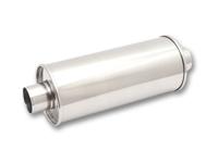 """Vibrant rustfri effektlyddemper 2,5"""" (63,5 mm) inn-og uttak, diam: 15 cm, lengde: 35 cm 7"""